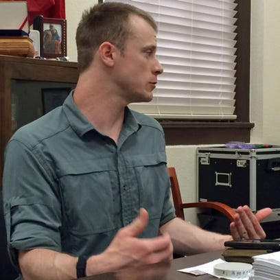 Sgt. Bowe Bergdahl prepares to be interviewed by Army