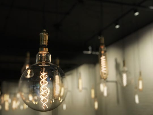 The lights at the newly revamped Cooked and Co. in