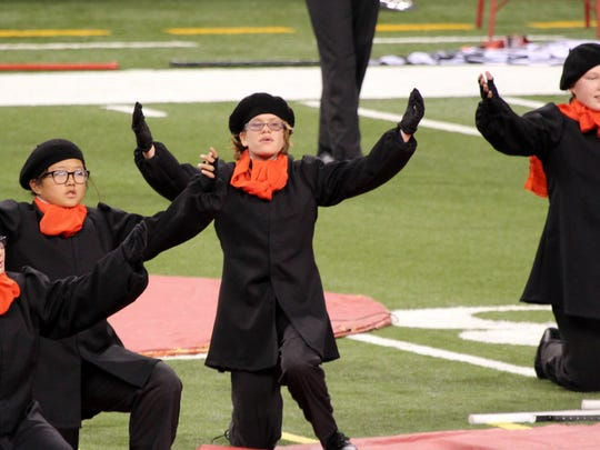 "Mimes played an important role in the Plymouth-Canton Marching Band's 2014 show ""Don't Bother They're Here."""