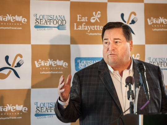 Lt. Gov. Billy Nungesser announces the 12 chefs competing