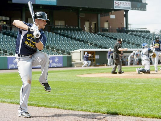 Bryan Pounds will be the opening-day third baseman for the Revs. (Chris Dunn -- Daily Record Sunday News)