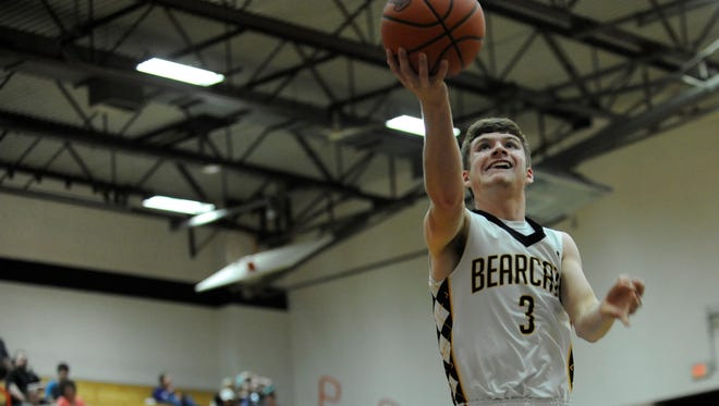 Paint Valley's Cruz McFadden flies to the rim during the Bearcats' sectional semifinal win over Northwest last week. McFadden and the Bearcats beat Eastern Brown 62-55 in overtime Saturday night, winning a sectional title.