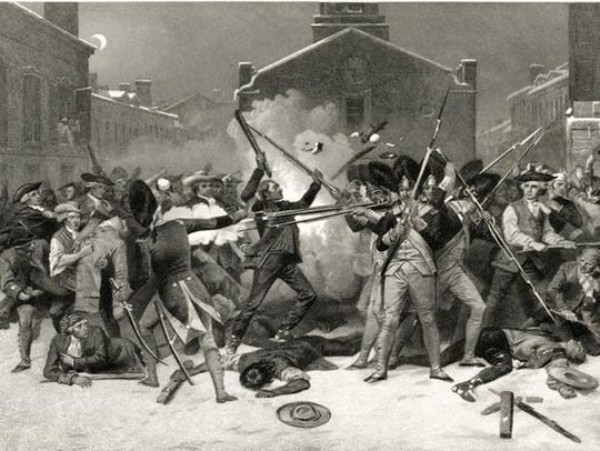 An 1878 engraving by Alonzo Chappel depicting the Boston