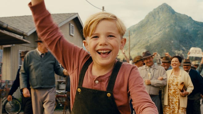 "Pepper (Jakob Salvati) hopes his faith will bring his father home safe from the war in ""Little Boy."""