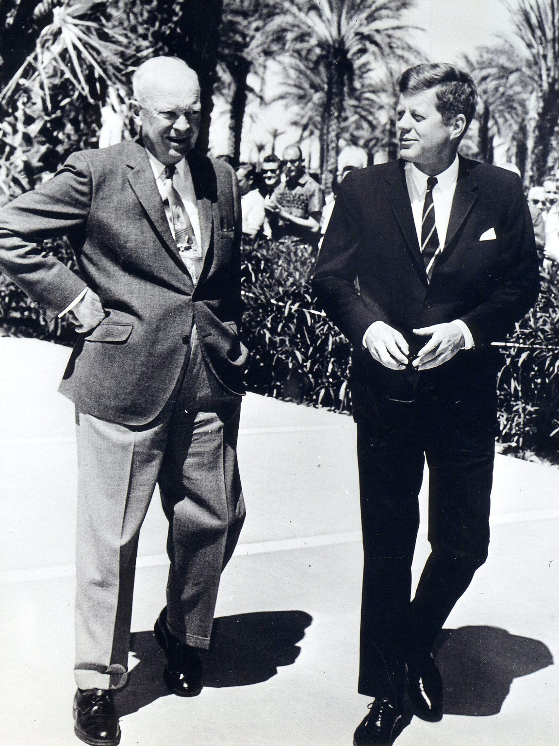 Presidents Dwight D. Eisenhower and John F. Kennedy.