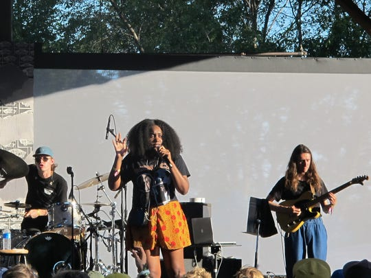 Rapper Noname performs at Eaux Claires IV on July 7,