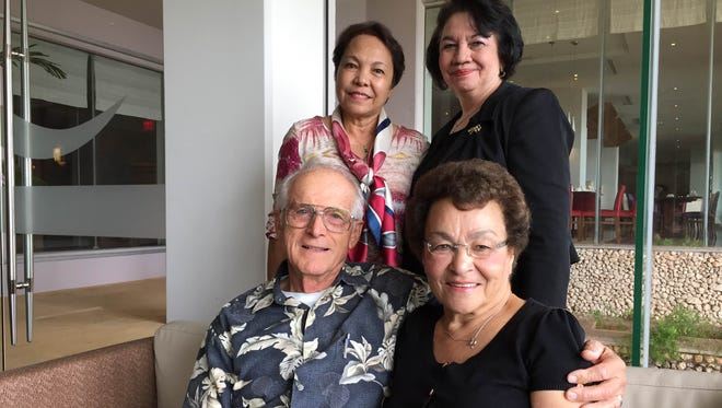 Rose Tribadini (Left Rear), Lori Duenas (Right Rear), Duane Alexenko (Left Front) and Kitty Alexenko (Right Front) will attend the inaugural dinner of the UOG School of Nursing Alumni Association. The group will celebrate the School of Nursing's class of 1968.