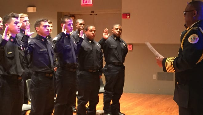 Eighteen recruits graduated and joined the Lafayette Fire Department Thursday.