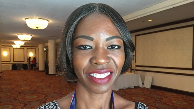 """Scherie Murray, 35, of Laurelton, Queens was an alternate delegate at the Republican National Convention. She said she switched her party registration from Democrat to Republican when she """"learned that the Republican Party was started as an anti-slavery movement.''"""
