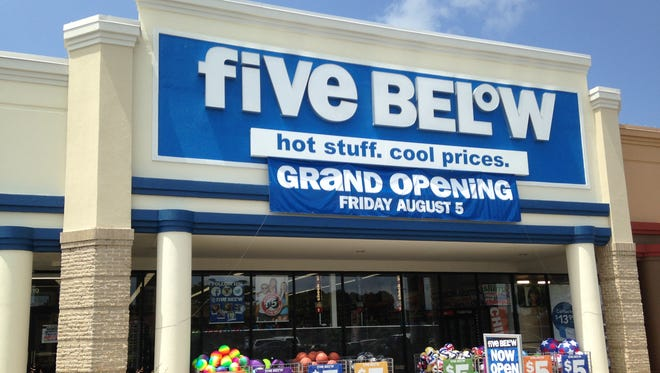 Five Below has opened at 119 Stonebrook Place.