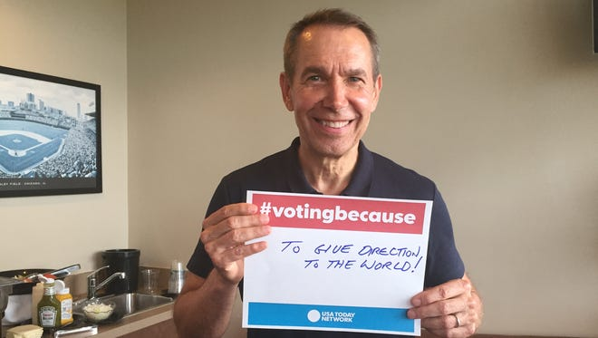 Internationally acclaimed artist Jeff Koons, a Dover native, is #votingbecause...