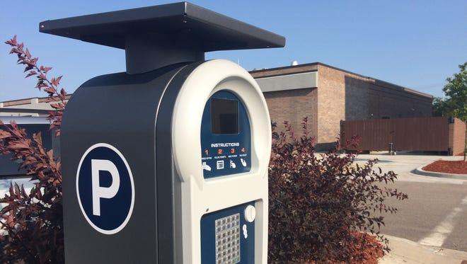 Stevens Point parking kiosk.