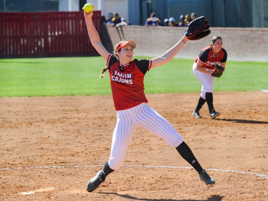 UL pitcher Macey Smith pitched a six-inning shutout for the win during the Cajuns' 8-0 win over Rutgers on Saturday.