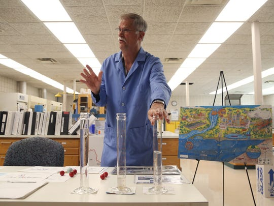 Gordon Brand, senior chemist for Des Moines Water Works, talks about the work he does inside the laboratory at the DMWW Fleur Drive treatment plant in Des Moines.