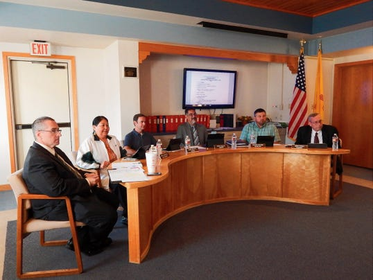 Ruidoso Board of Education during recent meeting.