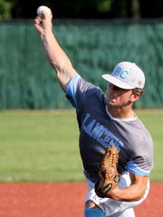Brookfield Central's Drew Leszczynski pitches against