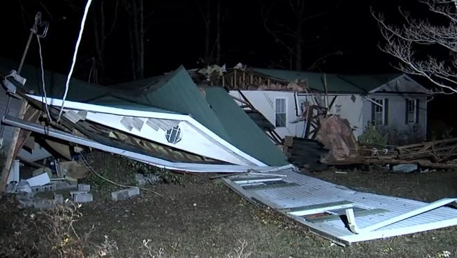 The storms are blamed for several deaths and injuries.