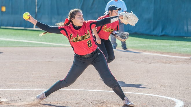 Centennial pitcher Santana Parra was named New Mexico Gatorade Softball Player of the Year.