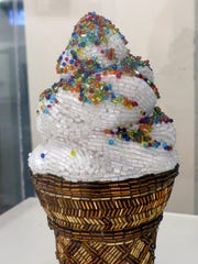 This ice cream cone is one of the items on display