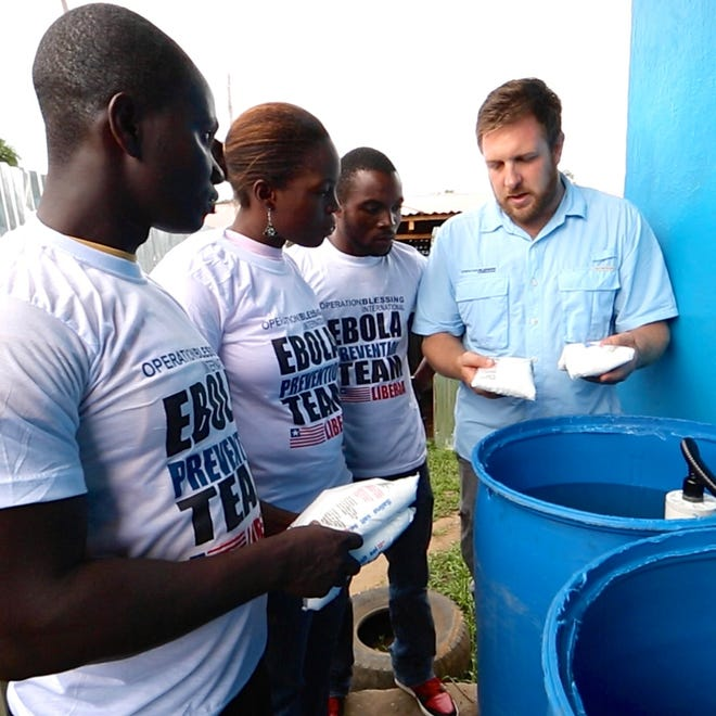 David Darg, vice president of international operations for Operation Blessing, in Liberia.