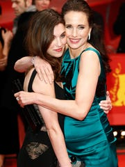 Rainey Qualley and her  mom, actress Andie MacDowell