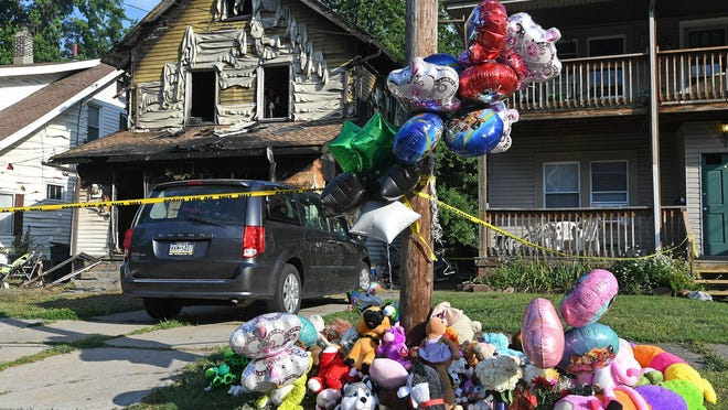 Five children died in the Aug. 11 fire at the Harris Family Daycare at 1248 W. 11th St., seen on Aug. 12. New state legislation, sponsored by state Sen. Dan Laughlin, of Millcreek Township, R-49th Dist., requires multiple smoke detectors in family day care centers. The Harris Family Daycare had only one smoke detector, in the attic, investigators said. The day care was demolished in March.