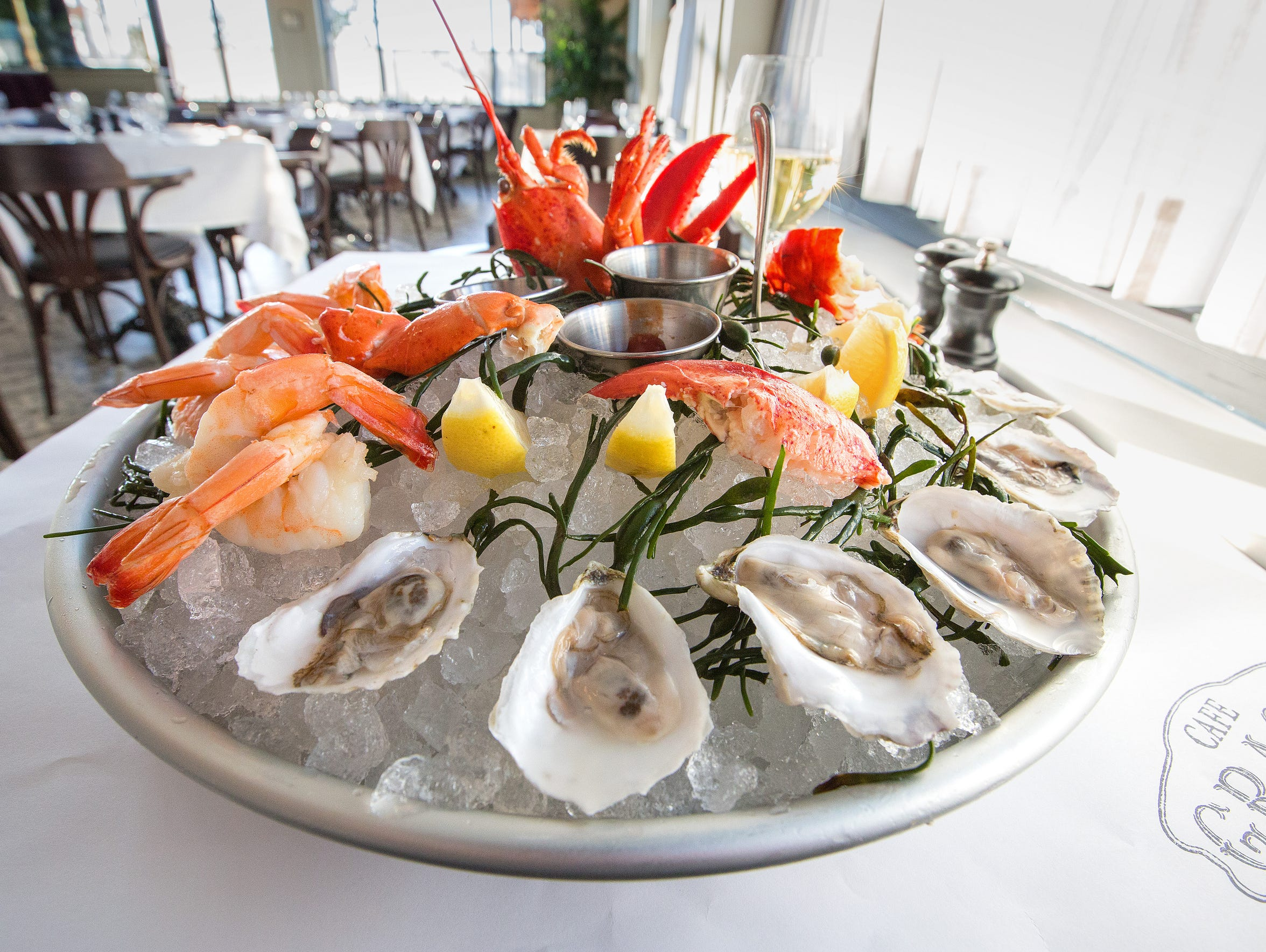 Chilled-seafood towers are on the menu at French restaurant