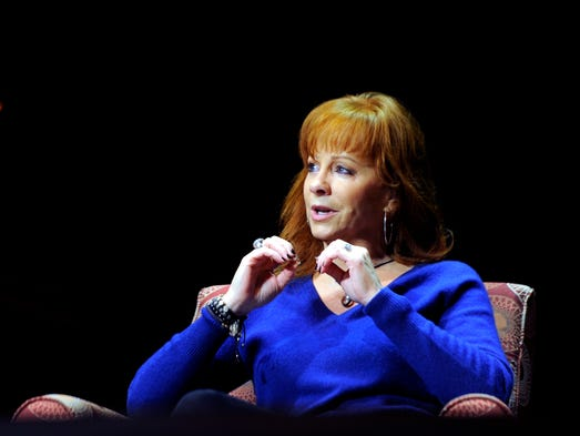 Reba McEntire takes question from local high and middle school students during a Q&A session at the Country Music Hall of Fame and Museum on Tuesday May 13, 2014.
