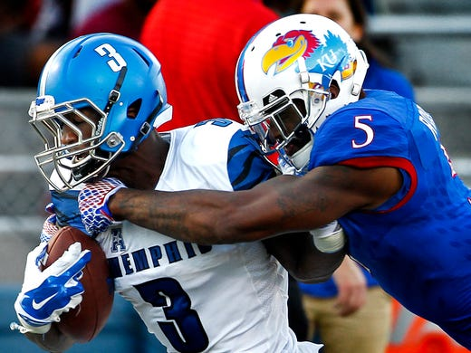September 12, 2015 - Memphis Anthony Miller (left)