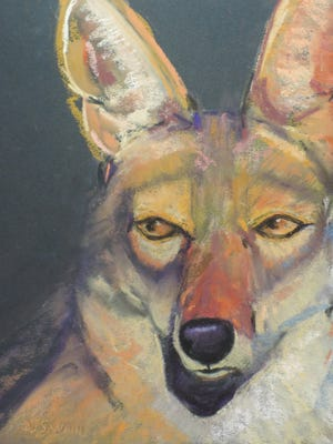 "Dinah Leavitt Swan's soulful ""Coyote"" won honors at a recent Pastel Society of New Mexico show in Albuquerque."