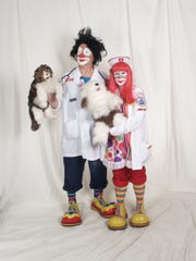 Gary and Melody Roster have been clowns for five years. They volunteer at hospitals and nursing homes.