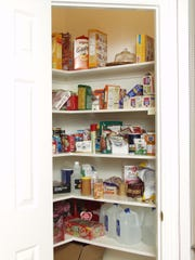 The pantry before it was organized.