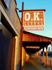 The Wild West's most famous gunfight is reenacted daily on the site of the OK Corral in Tombstone.