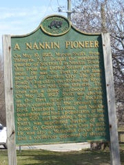 This historical marker, located on Warren Road in Garden