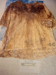 The nightgown Retha Welch wore when she was beaten and stabbed to death in April 1987 was collected as evidence by Newport police. The Enquirer/ Amanda Rossmann