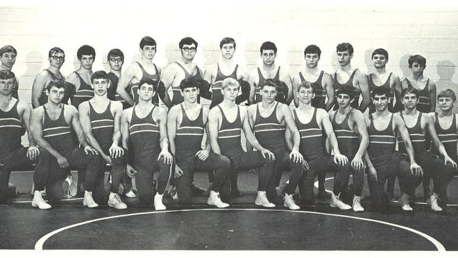 The 1969 Lincoln High wrestling team.