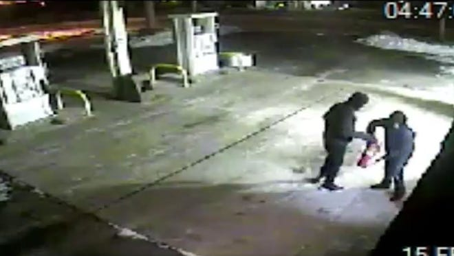 Police say these two suspects burglarized a Conoco gas station in Evesham on Jan. 8.