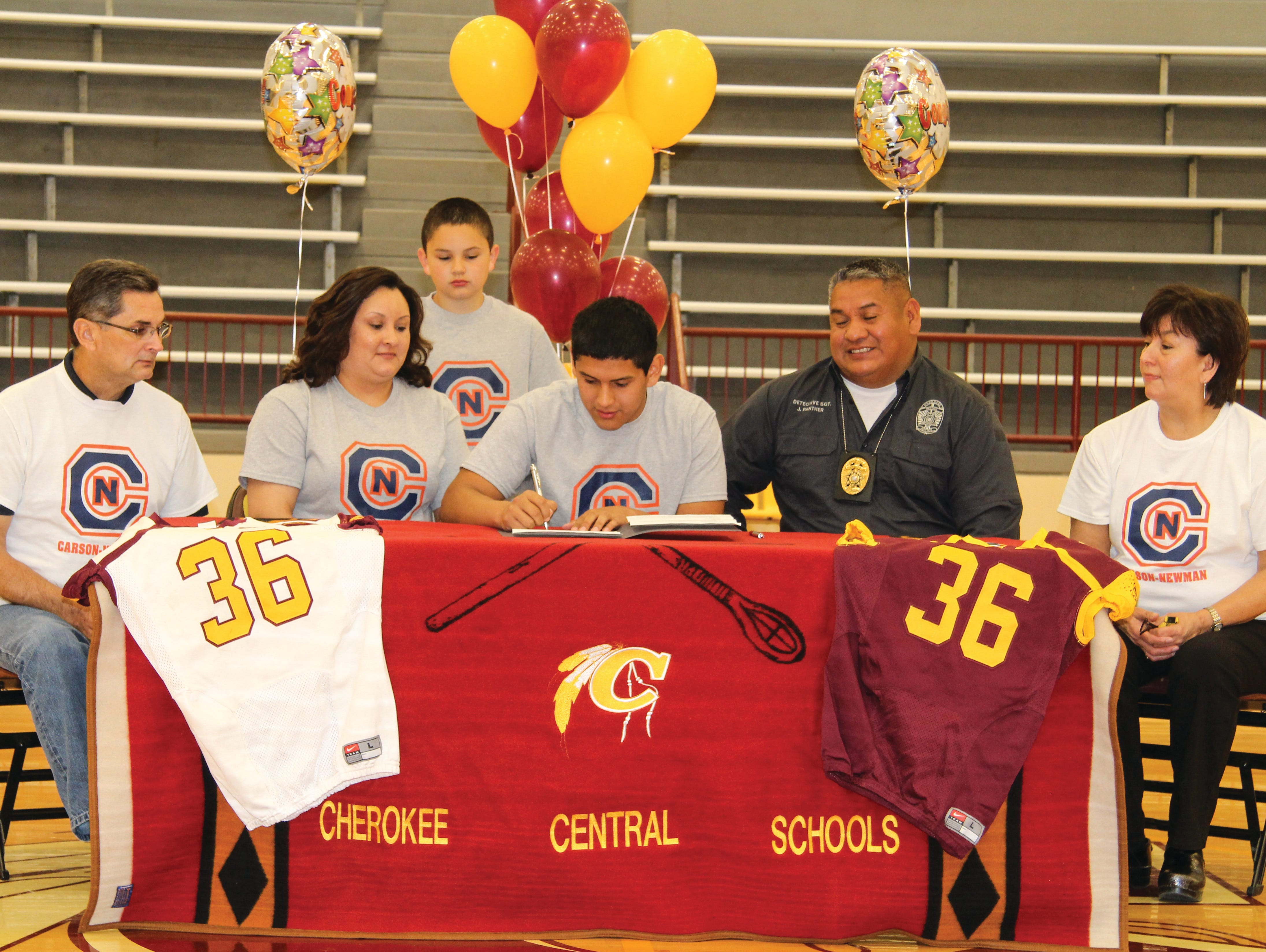 Cherokee senior Kennan Panther has signed to play college football for Carson-Newman.