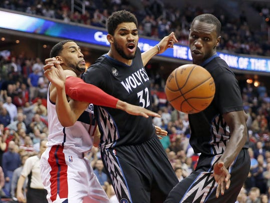 Garrett Temple, Karl-Anthony Towns, Gorgui Dieng