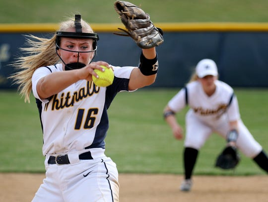 Whitnall's Haley Wynn  has a 14-1 record and an ERA of about 1.40.