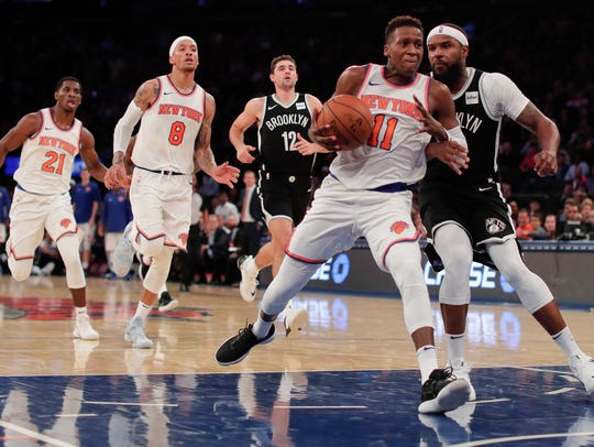 Knicks rookie Frank Ntilikina has played just one game