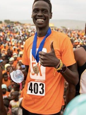 Overall winner Paul Yak, at the World Refugee Day 5k.
