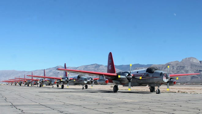 The Alamogordo-White Sands Regional Airport is currently home to seven P2V airplanes, the older generation slurry bomber.  The retired planes will soon be going to museums.