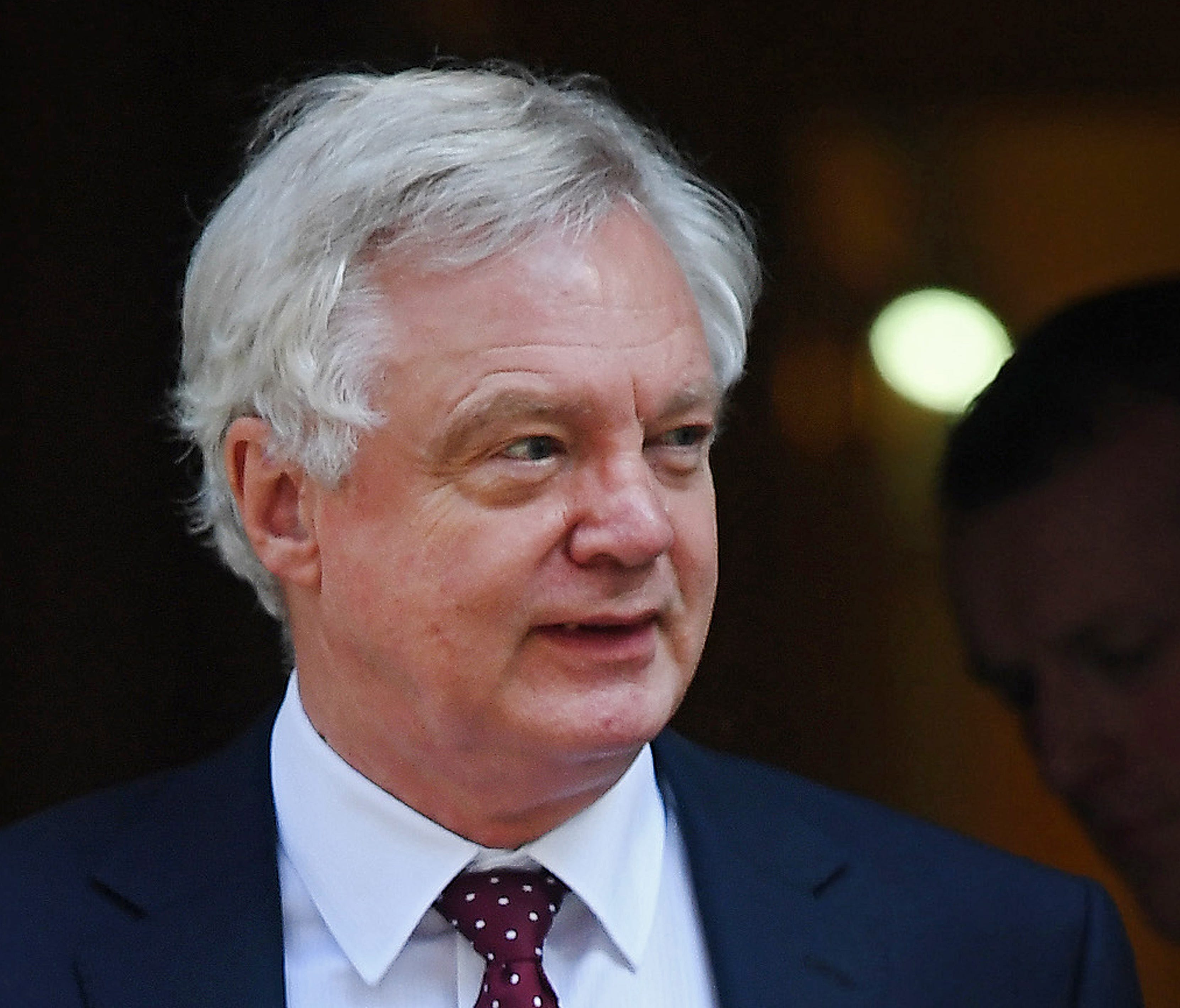 British Secretary of State for Exiting the European Union David Davis departs Downing Street following a cabinet meeting in London, Britain, July 3, 2018.