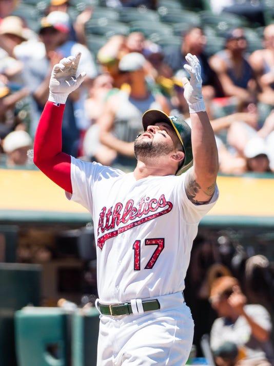 USP MLB: CHICAGO WHITE SOX AT OAKLAND ATHLETICS S BBA OAK CHW USA CA