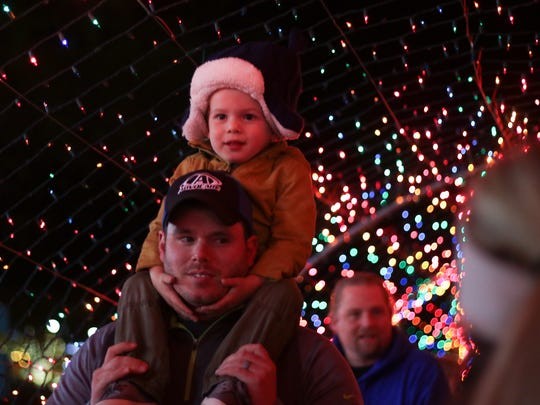 People filled McGregor Park for the 18th annual Christmas