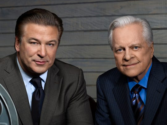 Longtime TCM host Robert Osborne, right, seen here