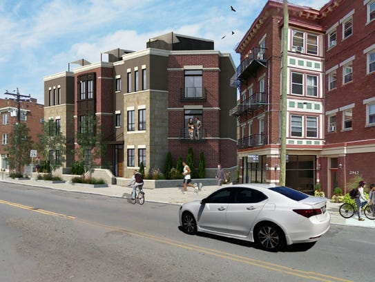 Prices for four new townhomes at 2940 Markbreit Ave.