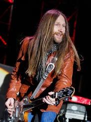 Charlie Starr, lead singer of the band Blackberry Smoke,