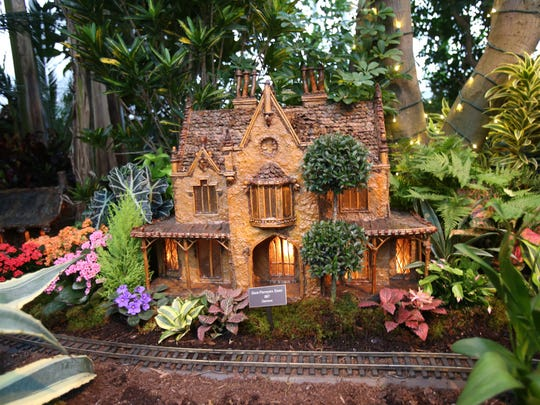 The Hurst-Pierrepont Estate in Garrison at the Holiday Train Show at the New York Botanical Garden Dec. 9, 2014.